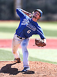Wildcats' Cody Kerns pitches against College of Southern Nevada during a game at Western Nevada College in Carson City, Nev., on Thursday, March 26, 2015. <br /> Photo by Cathleen Allison/Nevada Photo Source