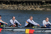 Mortlake/Chiswick, GREATER LONDON.  United Kingdom.  Tideway Scullers School, MasE.8+, competing at the 2017 Vesta Veterans Head of the River Race, The Championship Course, Putney to Mortlake on the River Thames.<br /> <br /> <br /> Sunday  26/03/2017<br /> <br /> [Mandatory Credit; Peter SPURRIER/Intersport Images]