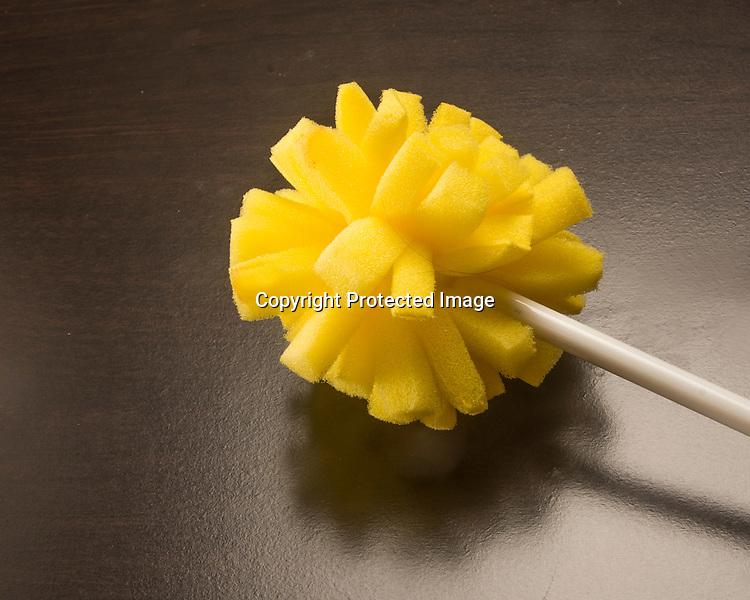 Yellow dish washing sponge for dishes