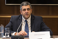 Zurab Pololikashvili secretary of UNWTO talks during a World Tourism Day press conference in Budapest, Hungary on Sept. 27, 2018. ATTILA VOLGYI