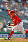 8 June 2008: Washington Nationals' pitcher Jon Rauch on the mound in relief against the San Francisco Giants at Nationals Park in Washington, DC. The Nationals dropped the afternoon matchup to the Giants 6-3 in their third consecutive loss of the 4-game series...Mandatory Photo Credit: Ed Wolfstein Photo