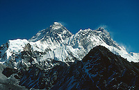 © David Paterson.The Everest group from Gokyo, with Everest (left), Nuptse and Lhotse. Nepal Himalaya..