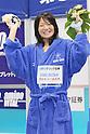 Misato Iwanaga, September 4, 2011 - Swimming : Misato Iwanaga celebrates wining victory during the Intercollegiate Swimming Championships, Women's 800m Free style medal ceremony at Yokohama international pool, Kanagawa. Japan. (Photo by Yusuke Nakanishi/AFLO SPORT) [1090]
