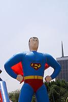 Giant Superman balloon in Mexico City