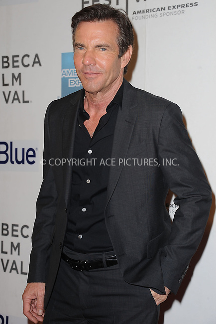 WWW.ACEPIXS.COM . . . . . .April 19, 2013...New York City....Dennis Quaid attends the 'At Any Price' New York premiere during the 2013 Tribeca Film Festival on April 19, 2013 in New York City. ....Please byline: KRISTIN CALLAHAN - WWW.ACEPIXS.COM.. . . . . . ..Ace Pictures, Inc: ..tel: (212) 243 8787 or (646) 769 0430..e-mail: info@acepixs.com..web: http://www.acepixs.com .