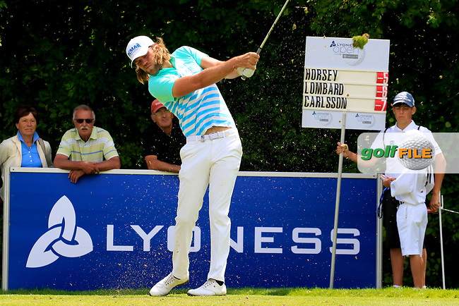 Johan Carlsson (SWE) during the third round of the Lyoness Open powered by Organic+ played at Diamond Country Club, Atzenbrugg, Austria. 8-11 June 2017.<br /> 10/06/2017.<br /> Picture: Golffile | Phil Inglis<br /> <br /> <br /> All photo usage must carry mandatory copyright credit (&copy; Golffile | Phil Inglis)