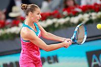 Karolin Pliskova, Czech Republic, during Madrid Open Tennis 2018 match. May 11, 2018.(ALTERPHOTOS/Acero) /NORTEPHOTOMEXICO