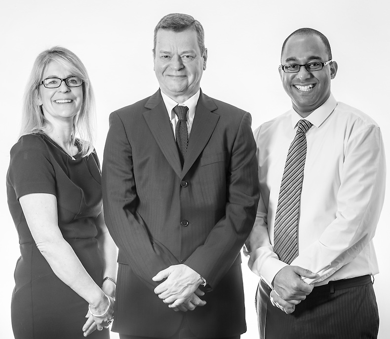 (L-R) Sara Brogan, Tony Ashton and Wesley Selkridge of A&M Wealth Management.