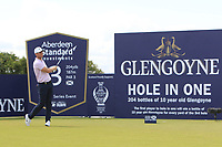 Lucas Bjerregaard (DEN) on the 3rd tee during Round 1 of the Aberdeen Standard Investments Scottish Open 2019 at The Renaissance Club, North Berwick, Scotland on Thursday 11th July 2019.<br /> Picture:  Thos Caffrey / Golffile<br /> <br /> All photos usage must carry mandatory copyright credit (© Golffile | Thos Caffrey)