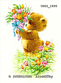 GIORDANO, CUTE ANIMALS, LUSTIGE TIERE, ANIMALITOS DIVERTIDOS, Teddies, paintings+++++,USGI1890,#AC# teddy bears