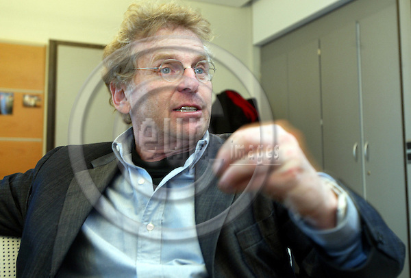 Belgium---Brussels---European Parliament  26.02.2004.Daniel COHN-BENDIT, co-president of the Greens / Free European Alliance Group in the European Parliament, MEP; www.cohn-bendit.de.PHOTO: EUP-IMAGES / ANNA-MARIA ROMANELLI
