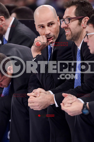 Morabanc Andorra's coach Joan Peñarroya during Quarter Finals match of 2017 King's Cup at Fernando Buesa Arena in Vitoria, Spain. February 16, 2017. (ALTERPHOTOS/BorjaB.Hojas) /Nortephoto.com