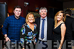 Martin O&rsquo;Regan celebrating his retirement from An Post with his family on Friday night in O'Donnells Mounthawk.<br /> L-r, Mark, Carmel and Martin O&rsquo;Regan with Jemma Rogers.