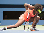 Serena Williams (USA) loses in the semifinals to Roberta Vinci (ITA) 2-6, 6-4, 6-4 at the US Open in Flushing, NY on September 11, 2015.