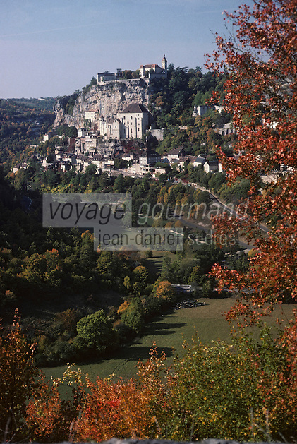 Europe/France/Midi-Pyrénées/46/Lot/Causse de Rocamadour/Rocamadour : Le village et la vallée
