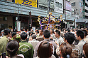 Some thousands people gathered to assist to the Sanja Matsuri in Asakusa, Tokyo, on Sunday May 20th. Sanja Matsuri is one of the Three Great Festivals of Tokyo,and is held on the third Saturday and Sunday every May by the inhabitants of the neighbouring community at Asakusa. The parade of the portable shrines is conducted for the mutual amity of the neighborhood and the prosperity of the community, but is also enjoyed by people from all over the world. (Photo by Francesco Libassi / AFLO)