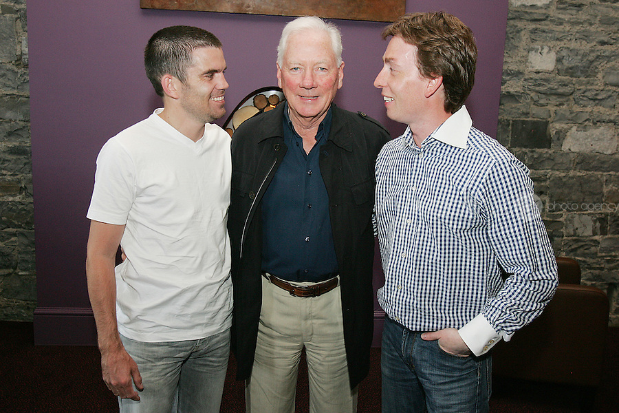 NO REPRO FEE. 7/7/2010. Cirque De Soleil opening night. Ben Dunne, Gay Byrne and Ken Doherty  are pictured at the O2 Dublin for the opening night of Cirque De Soleil Saltimbanco. For more info contact www.mcd.ie. Picture James Horan/Collins Photos