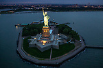 USA, New York, Statue of Liberty, aerial