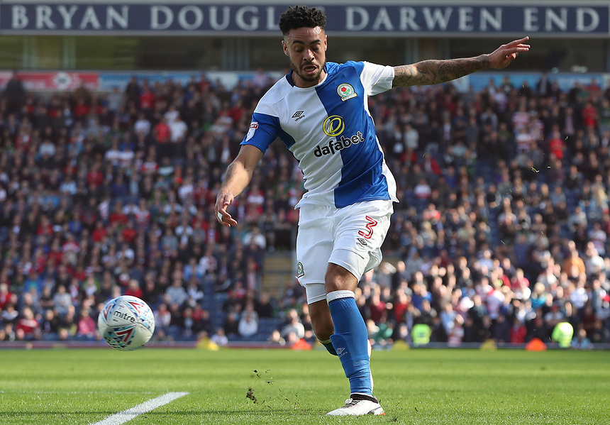 Blackburn Rovers' Derrick Williams<br /> <br /> Photographer Rachel Holborn/CameraSport<br /> <br /> The EFL Sky Bet League One - Blackburn Rovers v Doncaster Rovers - Saturday August 12th 2017 - Ewood Park - Blackburn<br /> <br /> World Copyright &copy; 2017 CameraSport. All rights reserved. 43 Linden Ave. Countesthorpe. Leicester. England. LE8 5PG - Tel: +44 (0) 116 277 4147 - admin@camerasport.com - www.camerasport.com