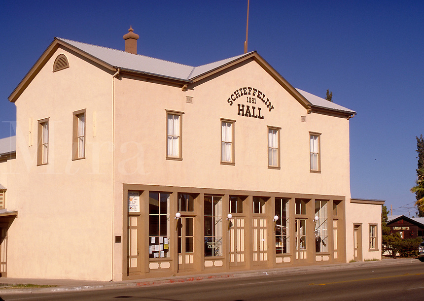 Schieffelin Hall was built in the 1880s to provide legitimate theater and a meeting hall for the Masonic Lodge. One of the largest adobe structure in the West, it was named after Ed Schieffellin who discovered a rich strike of silver in the area. Tombston