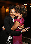 Allyson Tucker and Ariana DeBose during the Opening Night Actors' Equity Gypsy Robe Ceremony honoring  Afra Hines for 'Summer:The Donna Summer Musical at Lunt-Fontanne Theatre on April 23, 2018 in New York City.