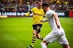 11.05.2019, Signal Iduna Park, Dortmund, GER, 1.FBL, Borussia Dortmund vs Fortuna Düsseldorf, DFL REGULATIONS PROHIBIT ANY USE OF PHOTOGRAPHS AS IMAGE SEQUENCES AND/OR QUASI-VIDEO<br /> <br /> im Bild | picture shows:<br /> Lukasz Piszczek (Borussia Dortmund #26) im Duell mit Niko Giesselmann (Fortuna #23), <br /> <br /> Foto © nordphoto / Rauch