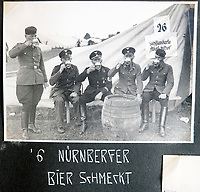 BNPS.co.uk (01202 558833)<br /> Pic: Jones&Jacob/BNPS<br /> <br /> 'Nurnberger beer tastes good' the company off-duty at the Nurenberg rally.<br /> <br /> Springtime for Hitler...Chilling album of pictures taken by one of Hitlers bodyguards illustrates the Nazi dictators rise to power.<br /> <br /> An unseen album of photographs taken by a member of Hitlers own elite SS bodyguard division in the years leading up to the start of WW2.<br /> <br /> The 1st SS Panzer Division 'Leibstandarte SS Adolf Hitler' or LSSAH began as Adolf Hitler's personal bodyguard in the 1920's responsible for guarding the Führer's 'person, offices, and residences'.