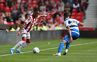 Stoke City's Thomas Ince and Queens Park Rangers' Yoann Barbet <br /> <br /> Photographer Stephen White/CameraSport<br /> <br /> The EFL Sky Bet Championship - Stoke City v Queens Park Rangers - Saturday 3rd August 2019 - bet365 Stadium - Stoke-on-Trent<br /> <br /> World Copyright © 2019 CameraSport. All rights reserved. 43 Linden Ave. Countesthorpe. Leicester. England. LE8 5PG - Tel: +44 (0) 116 277 4147 - admin@camerasport.com - www.camerasport.com