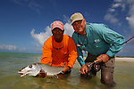 A BONEFISH IN LOS ROQUES WHILE FLY FISHING