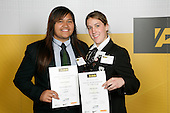 Girls Softball finalists Stevie Hamiora & Sally Bowden. ASB College Sport Young Sportperson of the Year Awards 2007 held at Eden Park on November 15th, 2007.