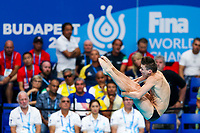 Picture by Rogan Thomson/SWpix.com - 14/07/2017 - Diving - Fina World Championships 2017 -  Duna Arena, Budapest, Hungary - Ross Haslam of Great Britain in action in the mens 1m Springboard Preliminary.