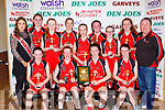 The St Marys  team celebrate after winning the U14 Girls final at the St Mary's Basketball blitz in Castleisland on Sunday