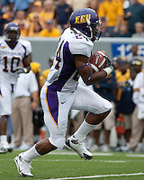 East Carolina running back Dominque Lindsay. The WVU Mountaineers defeated the East Carolina Pirates 35-20 at Mountaineer Field at Milan Puskar Stadium, Morgantown, West Virginia on September 12, 2009.