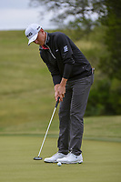 Mackenzie Hughes (CAN) watches his putt on 10 during Round 2 of the Valero Texas Open, AT&amp;T Oaks Course, TPC San Antonio, San Antonio, Texas, USA. 4/20/2018.<br /> Picture: Golffile   Ken Murray<br /> <br /> <br /> All photo usage must carry mandatory copyright credit (&copy; Golffile   Ken Murray)