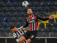 v.l. Vincenzo Grifo (SC Freiburg), Bas Dost (Eintracht Frankfurt) - 26.05.2020 Fussball 1.Bundesliga Spieltag 28, Eintracht Frankfurt  - SC Freiburg emspor, <br /> <br /> Foto: Jan Huebner/Pool/ Via Marc Schueler/Sportpics.de<br /> (DFL/DFB REGULATIONS PROHIBIT ANY USE OF PHOTOGRAPHS as IMAGE SEQUENCES and/or QUASI-VIDEO), Editorial use only. National and International News Agencies OUT