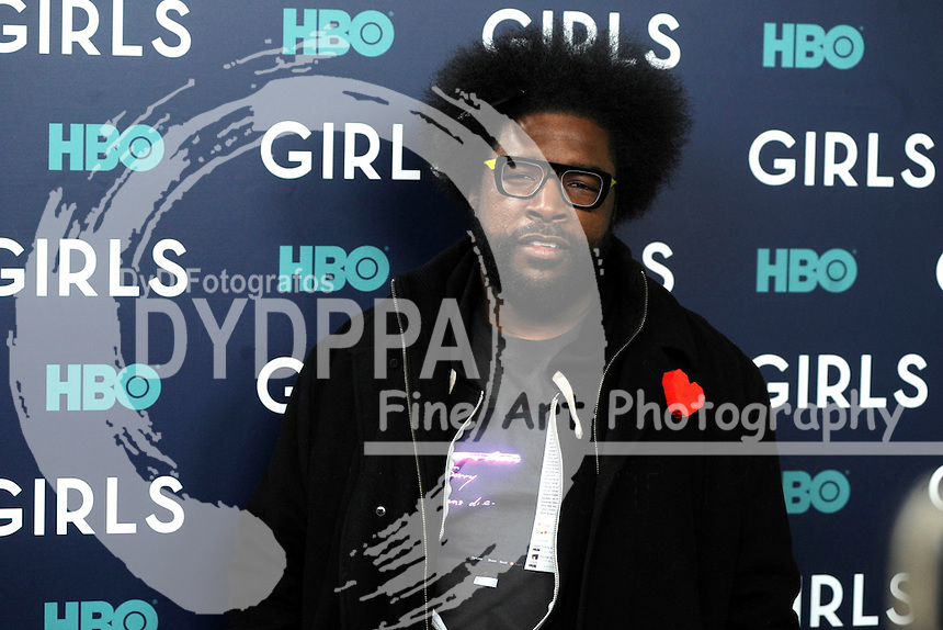 Questlove attends the 'Girls' premiere at Alice Tully Hall, Lincoln Center on February 2, 2017 in New York City.