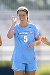 09 September 2012: San Diego's Meghan O'Rourke. The University of North Carolina Tar Heels defeated the University of San Diego Toreros 5-0 at Koskinen Stadium in Durham, North Carolina in a 2012 NCAA Division I Women's Soccer game.