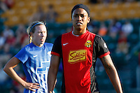 Rochester, NY - Friday June 24, 2016: Western New York Flash forward Jessica McDonald (14) during a regular season National Women's Soccer League (NWSL) match between the Western New York Flash and the Boston Breakers at Rochester Rhinos Stadium.