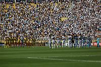 SÃO PAULO, SP 09.02.2019: SANTOS-MIRASSOL - Minuto de silêncio em homenagem às vítimas do Flamengo. Santos e Mirassol em jogo válido pela sexta rodada do campeonato Paulista 2019, no Pacaembu zona oeste da capital. (Foto: Ale Frata/Codigo19)