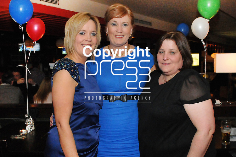 30/1/2015  Attending the 100 Miles Charity Race Night at Russells Bar, Raheen, were Diane Ahern, Noreen Curtin, Rathbane and Ann Griffin, Janesboro.<br /> Pic: Gareth Williams / Press 22