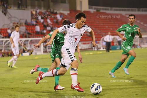 Shinji Okazaki (JPN), <br /> JUNE 11, 2013 - Football / Soccer : <br /> FIFA World Cup Brazil 2014 Asian Qualifier <br /> Final Round Group B <br /> between Iraq 0-1 Japan <br /> at Al-Arabi Stadium, Doha, Qatar. <br /> (Photo by YUTAKA/AFLO SPORT)