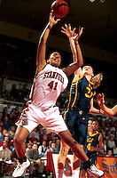 STANFORD, CA - JANUARY 21: Bethany Donaphin of the Stanford Cardinal during Stanford's 78-62 win over the California Golden Bears on January 21, 2000 at Maples Pavilion in Stanford, California.