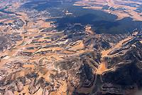 Landschaftsstrucktur:SPANIEN, SEGOVIA, 23.07.2003: Provinz Segovia Kastilien-León. Feld, Landwirtschaft, abgeerntete Kornfelder, Getreide, Stoppelfeld..