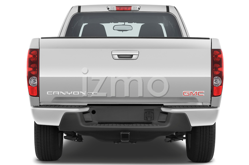 Straight rear view of a 2009 GMC Canyon SLE Extended Cab