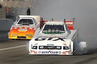 Nov 2, 2007; Pomona, CA, USA; NHRA funny car driver Ashley Force during qualifying for the Auto Club Finals at Auto Club Raceway at Pomona. Mandatory Credit: Mark J. Rebilas-US PRESSWIRE
