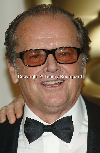 Jack Nicholson backstage at the 78th Academy of Motion Pictures (Oscars)  at the Kodak Theatre in Los Angeles. March 5, 2006
