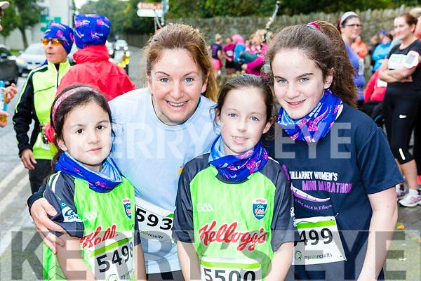 Ruth, Caroline, Jane and Anna lynch Tralee  at the Killarney Women's mini-marathon on Saturday