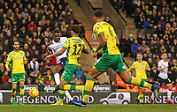 Bolton Wanderers' Sammy Ameobi scores his side's first goal to make it 2-1<br /> <br /> Photographer David Shipman/CameraSport<br /> <br /> The EFL Sky Bet Championship - Norwich City v Bolton Wanderers - Saturday 8th December 2018 - Carrow Road - Norwich<br /> <br /> World Copyright &copy; 2018 CameraSport. All rights reserved. 43 Linden Ave. Countesthorpe. Leicester. England. LE8 5PG - Tel: +44 (0) 116 277 4147 - admin@camerasport.com - www.camerasport.com