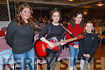 Enjoying the bright lights at the Kerry School of Music concert in the Rose Hotel on Sunday, are the Bright family from Lixnaw.<br /> L to r: Marie, Isabella, Scarlet and Grace Bright.