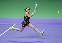 AGNIESZKA RADWANSKA (POL)<br /> <br /> The BNP Paribas WTA Finals 2014 - The Sports Hub - Singapore - WTA  2014  <br /> <br /> 23 October 2014<br /> <br /> &copy; AMN IMAGES